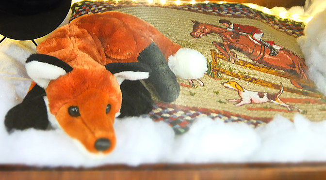 Frasier Fox and Braided Rug