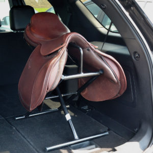 Free-standing saddle rack