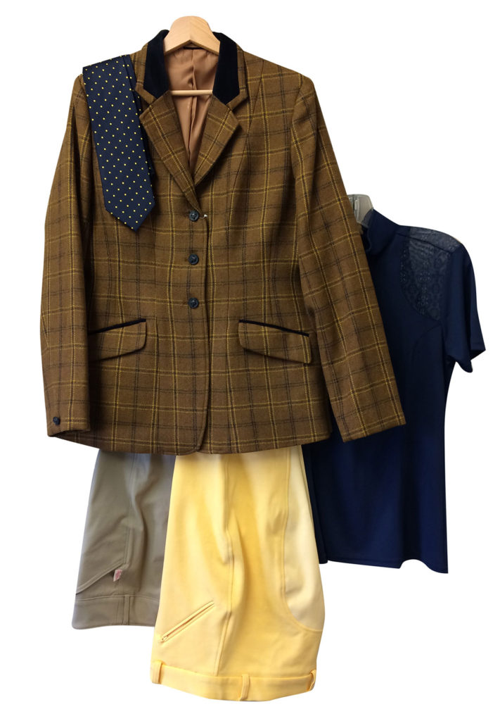 Brown and Canary Informal Foxhunting Apparel